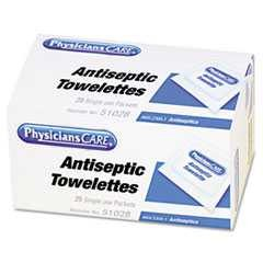 PhysiciansCare, First Aid, Towelettes, Antiseptic, 25/Case