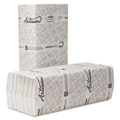 Wausau Paper, 13 in x 10 1/8 in, Folded Towels, C-Fold, White, 150/Case