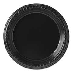 Solo, 7 1/4in, Party Plastic Plates, Black, 20-25/Case