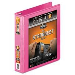 Wilson Jones, View Binder, w/Extra Durable Hinge, Heavy-Duty, Round Ring, 1.5 in Capacity, Bright Pink