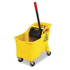 Rubbermaid, 31 qt, Tandem, Yellow