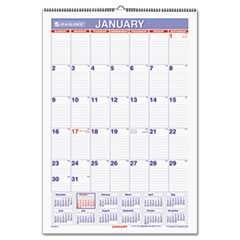 At-A-Glance, 15 1/2 in x 22 3/4 in, 2015 Wall Calendar, Erasable, White