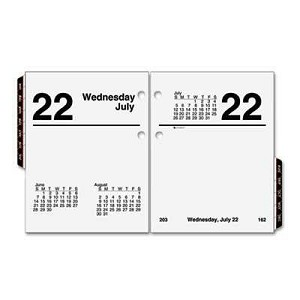"#AAGE91950 - Recycled Compact Desk Calendar Refill, 3"" x 3 3/4"", 2013"