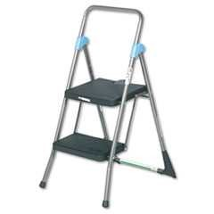 #CSC11829GGB - Cosco, 20 1/2 in x 24 3/4 in x 39 1/2 in, 300#, Folding Stool, 2-Step, Gray
