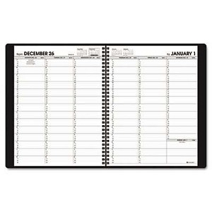 "Recycled Weekly Appointment Book, Black, 8 1/4"" x 10 7/8"", 2013"
