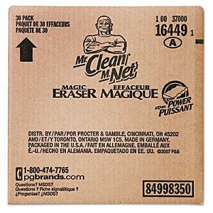 "#PGC16449 - Mr. Clean, 4 3/5"" x 2 2/5"", Magic Eraser, White, 30/Case"