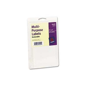 #AVE05450 - Print or Write Removable Multi-Use Labels, 3 x 5, White, 40/Pack