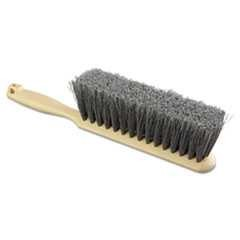 "8"", Counter Brush, Flagged, Polypropylene Bristles, Tan"