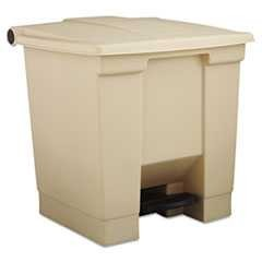 Rubbermaid, Step-On Waste Container, Indoor Utility, 8 Gallon, Beige