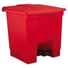 #RCP6143RED - Rubbermaid, Step-On Waste Container, Indoor Utility, 8 Gallon, Red