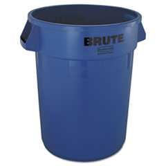 #RCP2632BLU - Rubbermaid, Brute, Refuse, Round Container, 32 Gallon, Blue