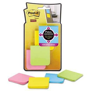 "#MMMF2208SSAU - Post-It® Full Adhesive Notes, 2"" x 2"", Jaipur Colors, 25 Sheets/Pad, 8 Pads/ Pack"