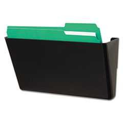 #UNV08122 - Recycled Wall File, Add-On Pocket, Plastic, Black