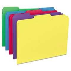 #UNV12306 - Recycled Interior File Folders, 1/3 Cut Top Tab, Letter, Assorted, 100/Box