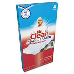 "#PGC82038CT - Mr. Clean, 3 1/2"" x 5"", 1"" Thick, Magic Eraser, Extra Power, White, 8-4/Case"
