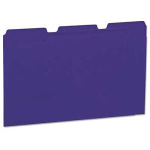 #UNV10505 - Colored File Folders, 1/3 Cut One-Ply Top Tab, Letter, Violet, 100/Box