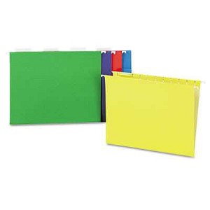 #UNV14121 - Hanging File Folders, 1/5 Tab, 11 Point, Letter, Assorted Colors, 25/Box