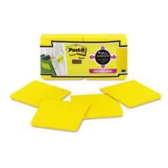 "#MMMF33012SSY - Post-It® Full Adhesive Notes, 3"" x 3"", Electric Yellow, 25 Sheets/Pad, 12 Pads/Pack"