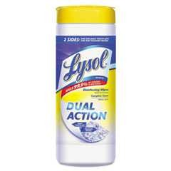 #RAC81143CT - Lysol, Dual Action, Wipes, 12-35/Case- CURRENTLY OUT OF STOCK!