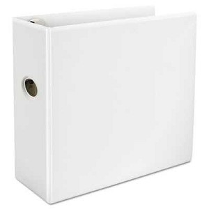 "#UNV30756 - Comfort Grip Deluxe Plus D-Ring View Binder, 5"" Capacity, 8-1/2 x 11, White"