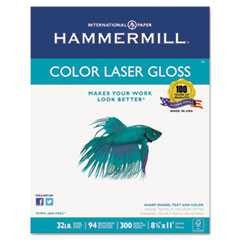 #HAM163110 - Color Laser Gloss Paper, 94 Brightness, 32lb, 8-1/2 x 11, White, 300 Sheets/Pack