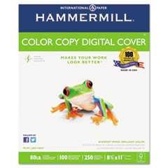 "#HAM120023 - Color Copy Digital Cover Stock, 80lbs, 8½"" x 11"", 100 Brightness, White, 250 Sheets/Pack"