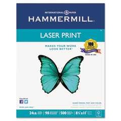 #HAM104604 - Laser Print Office Paper, 98 Brightness, 24lb, 8-1/2 x 11, White, 500 Sheets/Rm