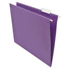 #UNV14120 - Hanging File Folders, 1/5 Tab, 11 Point Stock, Letter, Violet, 25/Box