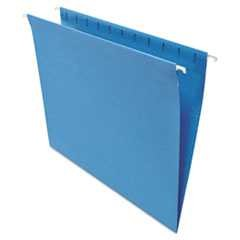 #UNV14116 - Hanging File Folders, 1/5 Tab, 11 Point Stock, Letter, Blue, 25/Box