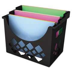 "#UNV08123 - Recycled Desktop File Holder, Plastic, 13 1/4"" x 8 5/8"" x 10 3/4"", Black"