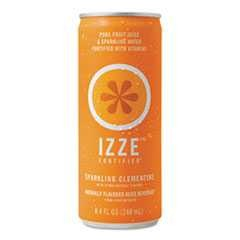 #QKR15054 - Izze, 8.4 oz, Sparkling Juice, Fortified, Clementine, 24/Case