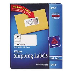 #AVE8463 - Shipping Labels with TrueBlock Technology, 2 x 4, White, 1000/Box