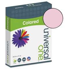 #UNV11204 - Colored Paper, 20lb, 8-1/2 x 11, Pink, 500 Sheets/Ream