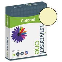 "#UNV11201 - Colored Paper, 20lb, 8½"" x 11"", Canary, 500 Sheets/Ream"