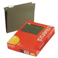 #UNV14115 - Hanging File Folders, 1/5 Tab, 11 Point Stock, Letter, Standard Green, 25/Box