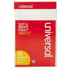 #UNV35851 - Colored Perforated Note Pads, Wide Rule, 5 x 8, Gray, 50-Sheet