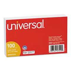 "#UNV47210 - Ruled Index Cards, 3"" x 5"", White, 100/Pack"