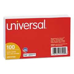 "#UNV47200 - Unruled Index Cards, 3"" x 5"", White, 100/Pack"