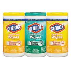 #CLO30208 - Clorox, Disinfecting Wipes, 1 Ply, Premoistened, White, 4-3/Case- CURRENTLY OUT OF STOCK!