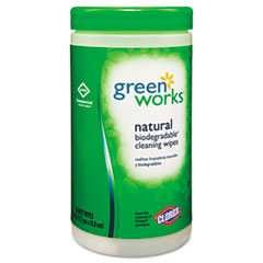 #CLO30380CT - Green Works, Compostable Wipes, Citrus Blend, 6/Case