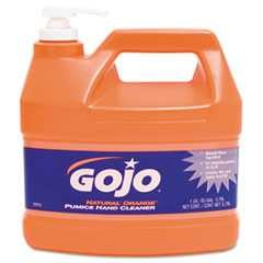 #GOJ095504CT - Gojo, Pump Dispenser, Pumice Hand Cleaner, Natural Orange, Orange Citrus, 1 Gallon, 4/Case