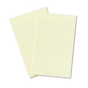 "Post-It® Notes, 5"" x 8"", Canary Yellow, Lined, 50 Sheets/Pad, 2 Pads/Pack"