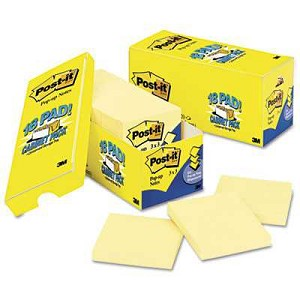 "#MMMR33018CP - Post-It® Pop-Up Notes, Cabinet Pack, 3"" x 3"", Canary Yellow, 90 Sheets/Pad, 18 Pads/Pack"