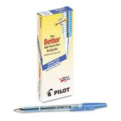 #PIL36711 - Better Ballpoint Stick Pen, Blue Ink, Medium, 12/Pk