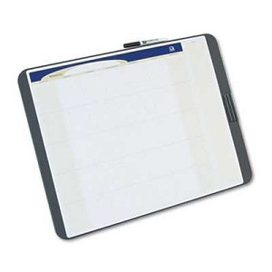"#QRTCT2317 - Tack and Write Monthly Calendar Board, 17"" x 23"", Black"