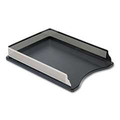 #ROLE23565 - Distinctions Self-Stacking Letter Desk Tray, Metal/Black