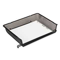 #ROL62555 - Nestable Mesh Stacking Side Load Letter Tray, Wire, Black