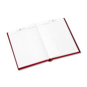 "#AAGSD38913 - Standard Diary Recycled Daily Reminder, Red, 5 3/4"" x 8 1/4"""