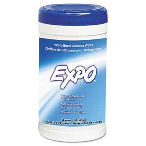 #SAN81850 - Dry Erase Board Cleaning Wet Wipes, 50/Container