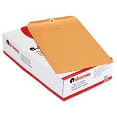 #UNV35268 - Kraft Clasp Envelope, Side Seam, 28lb, 10 x 15, Light Brown, 100/Box